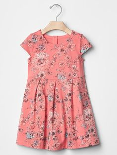 Floral fit & flare dress | Gap | so cute! Can't wait for spring/summer!