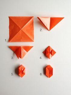 DIY Simple Fold Origami Pumpkin Lights