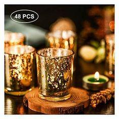 Verre votive Bougeoir set de 2-Noël Lutin Décoration D/'intérieur lumière Nuit