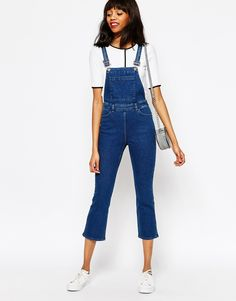 662d90c12553 Image 1 of Monki Wide Leg Dungaree Cool Bomber Jackets