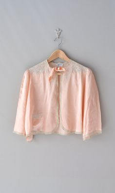 1930s lingerie | 30s silk bed jacket