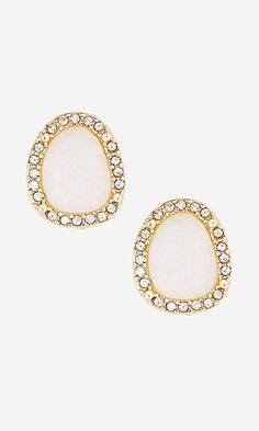 Now these I love. Express studs light pink with a halo of gems. I like how they are uneven and not perfectly oval or round. Might be checking these ones out in the store