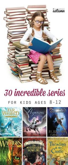 great list of fantastic series for kids ages 8-12. great books to put on the summer reading list! by Stiches