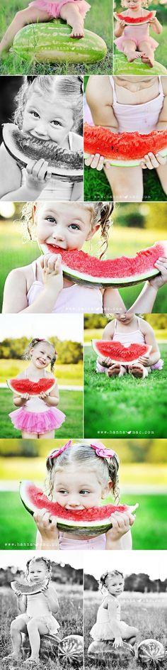 I love the watermelon photo session idea. :) Photo Session Ideas | Cheap Props | Prop | Sisters | Family | Summer | Fun
