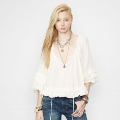 Ruffled Boho Top