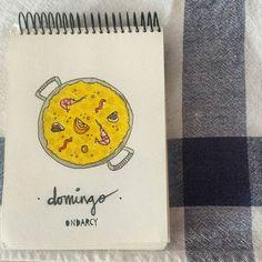 Esperamos que hoy tengáis un gran día!!! Feliz domingo!  #sunday #domingo #paella #cooking #iamwhatieat #art #artwork #sketch #design #dibujo #diseño #drawing #ilustración #illustration #instaart #instaartist #instagood #graphicdesign #ondarcy #regalosconestilopropio