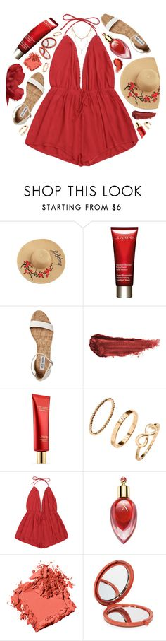 """No Doubt"" by monmondefou ❤ liked on Polyvore featuring Clarins, By Terry, Estée Lauder, H&M, Xerjoff, Bobbi Brown Cosmetics, Odeme and red"