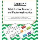 Greatest Common Factor; Distributive Property; Factoring; Grade 6