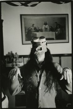 Mike Kelley in Trout Mask, photo by Cary Loren, Gods Oasis, 1975