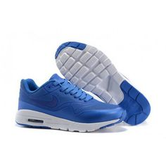 new style a0249 9af22 Women Nike Air Max 1 Ultra Moire CH Shoes Blue White