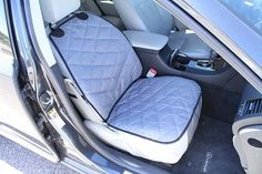 Devoted Doggy Deluxe Plush Padded and Quilted Car Seat Cover - Non-slip backing and seat anchor to prevent sliding.