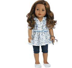 "Adora Friends 18"" Lola Play Doll with Medium Skin/Brown Hair ~ Children's GIFT #Adora #DollswithClothingAccessories"