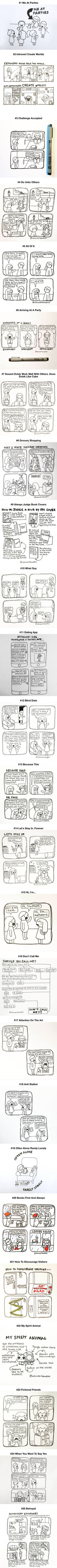 Comics That Every Introvert Will Understand (By Introvertdoodles)