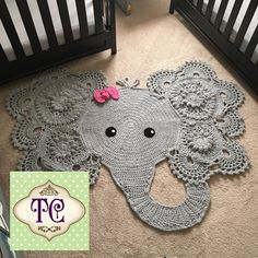 Crochet Elephant Rug Made to order by TCSimplyChic on Etsy