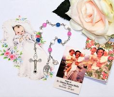 Unbreakable Catholic Relic Chaplet of St. Gianna Beretta Molla - Patron Saint of Pregnant Women and Against Abortion by foodforthesoul on Etsy