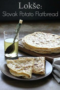 Lokse, Slovak potato flatbread, regular and gluten free