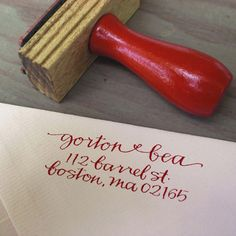 stamps instead of calligraphy - DUH. plus you can use if after the wedding too. win, win.