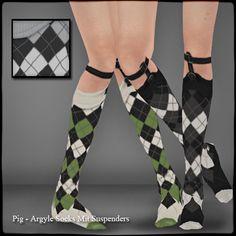 argyle sock suspenders