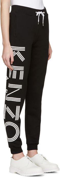 d594a0f2c599 Kenzo Black Logo Lounge Pants Kenzo Clothing