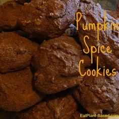 These Pumpkin Spice Cookies are sweet, plump, and moist! One batch makes 3 dozen cookies with only 88 calories, 0.4 grams of fat, and nearly 2 grams of fiber each! Adapted from NutritionMD.org (Physicians Committee for Responsible Medicine).