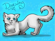 This is Dovewing. She was one of the three. Dovewing was also my favorite warrior cat. She and Ivypool had a very stron connection.