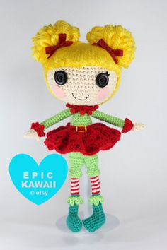 PATTERN Lalaloopsy Holly Sleighbells Crochet by epickawaii on Etsy, $5.99