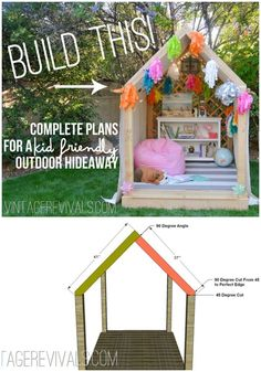 Outdoor Hideaway Building Plans DIY Playhouse Ideas For Your Kids