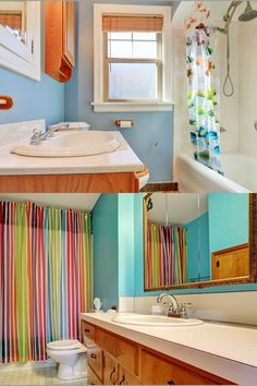 Explore these 25+ perfect paint colors for your bathroom/walls. Best bathroom paint color ideas and color schemes, neutral, gray, dark, blue, bright with the best design ever. #bathroom #bathroomcolors #bathroompaint #homedecor Neutral Bathroom, Bathroom Wall, Master Bathroom, Best Bathroom Paint Colors, Beautiful Bathrooms, Color Schemes, Cool Designs, Dark Blue, Walls
