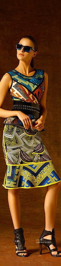 Hervé Léger by Max Azria Pre-Fall 2015 ~Latest African Fashion, African Prints, African fashion styles, African clothing, Nigerian style, Ghanaian fashion, African women dresses, African Bags, African shoes, Nigerian fashion, Ankara, Kitenge, Aso okè, Kenté, brocade. ~DKK