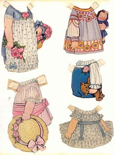Dolly Dingle outfits 16 * 1500 paper dolls at International Paper Doll Society by artist Arielle Gabriel ArtrA QuanYin5 Linked In QuanYin5 Twitter *