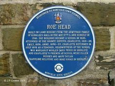 Picture of Roe Head School Name Plate in Colne Bridge, West Yorks submitted by local photographers. Bronte Parsonage, Domesday Book, Writers Help, Bronte Sisters, Charlotte Bronte, Local Photographers, West Yorkshire, Pilgrimage, Writing A Book
