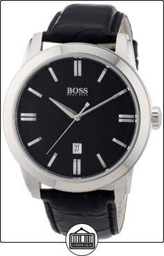 Hugo Boss 1512767 - Reloj analógico de cuarzo para hombre con correa de piel, color negro de  ✿ Relojes para hombre - (Gama media/alta) ✿