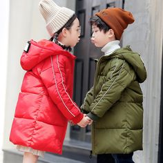 Find More Down & Parkas Information about 2018 boys Down parkas jackets winter girls clothes outerwear children's clothing jackets kids cotton hooded down coats 3 14Years,High Quality Down & Parkas from KASTURIA Store on Aliexpress.com Down Parka, Hoods, Girl Outfits, Winter Jackets, Store, Children, Coat, Girls, Clothing
