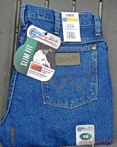 Wrangler Mens 936GSHD George Strait Cowboy Cut Slim Denim Jeans 34x30 NWT #Wrangler #SlimSkinny