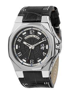 Reloj italiano de Cuarzo negro, piel antialérgica negra. http://www.tutunca.es/reloj-race-negro-piel