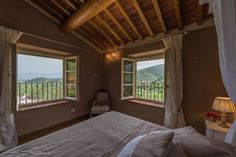 Another bedroom of Villa Poesia in Lucca, Tuscany