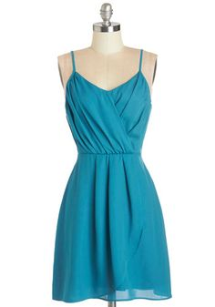 Summertime Streets Dress. For a day out and about in your neighborhood, slip into this teal tank dress! #blueNaN