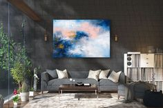 Items similar to Large Modern Wall Art Painting,Large Abstract Painting on Canvas,texture painting,gold canvas painting,gallery wall art on Etsy Large Abstract Wall Art, Large Canvas Art, Large Painting, Painting Art, Knife Painting, Painting Gallery, Modern Wall Decor, Home Decor Wall Art, Art Decor
