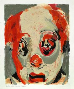 PAYASO, Lita Cabellut (b1961, born a gipsy girl in the streets of El Raval in Barcelona, Cabellut was adopted at the age of 13)...
