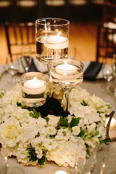 New Vintage Wedding Decoracion Centerpieces Floating Candles Ideas Floating Candles Wedding, Floating Candle Centerpieces, Floral Centerpieces, Floral Arrangements, Quinceanera Centerpieces, Candle Favors, Centrepieces, Centerpiece Ideas, Winter Wedding Centerpieces