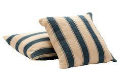Blue-Striped Pillows, Pair on OneKingsLane.com
