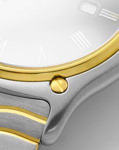 Foto 4, Ebel Sport Classic Wellen-Armband Senior Uhr Stahl-Gold, U2086