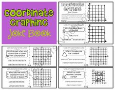This cute minibook is a fun way for students to practice identifying coordinate pairs on a graph (while having a good laugh! The boog begins with. School Resources, Math Resources, Graphing Activities, 5th Grade Math, Fourth Grade, Teacher Notebook, G 1, Common Core Math, Fun Math
