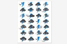 "Blue Thunder - Art Print 8"" x 10"" | - Oh OnlineStore"