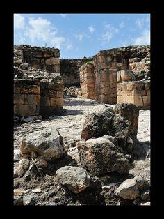 Ruins of Megiddo Israel