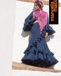 Colección de trajes de flamenca, vestidos de gitana, Moda flamenca, diseñadora Manuela Macías Flamenco costume design San Bartolomé de la Torre Huelva Boho, Beauty, Dresses, Fashion, Dance Clothing, Houndstooth, Accessories, Beleza, Vestidos