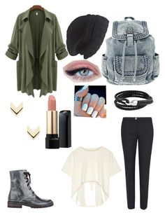 Cute army girl by rainbowsandthenme on Polyvore featuring polyvore, fashion, style, Oak, Ted Baker, Ann Demeulemeester, Bling Jewelry, Leslie Danzis, Laundromat, Lancôme, women's clothing, women's fashion, women, female, woman, misses and juniors