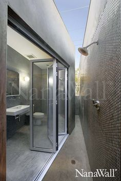 NanaWall outdoor shower