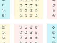 Iconuioo - eCommerce icon pack by Petr Bilek Icon Pack, Ecommerce, Word Search, Packing, Icons, Words, Bag Packaging, Symbols, E Commerce