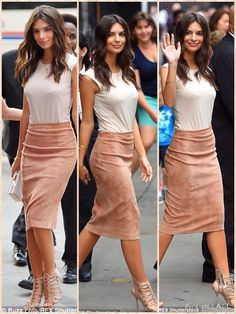 For her breakfast TV appearance the Blurred Lines star wore a pencil skirt and clingy top that displayed every curve and contour of her lithe body